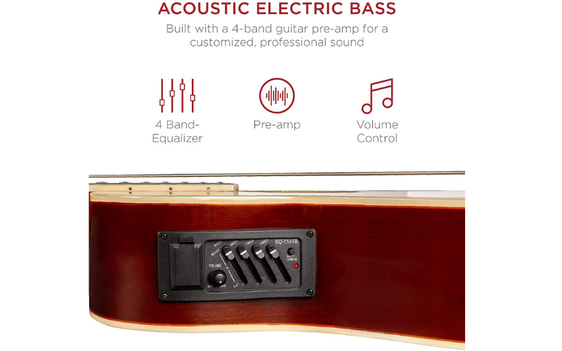 Best Choice Products 22-Fret Full-Size Acoustic-Electric Bass Guitar Sound
