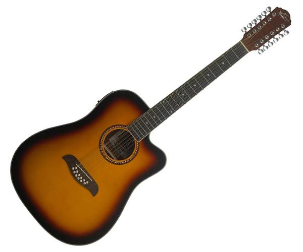 Oscar Schmidt OD312CE-A-U 12-String Acoustic Electric Guitar