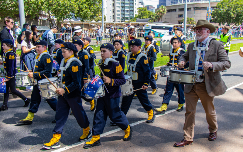 Marching With Drums
