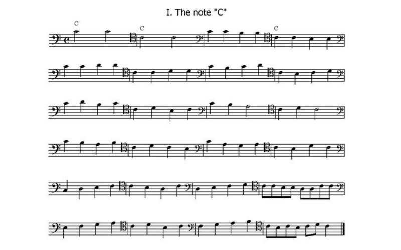 The Tenor Clef Notes