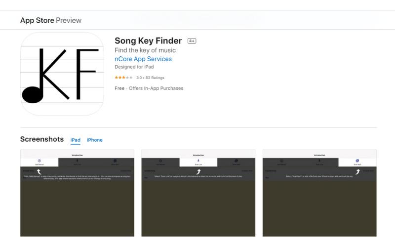 Song Key Finder App